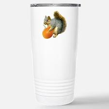 Squirrel with Pumpkin Travel Mug