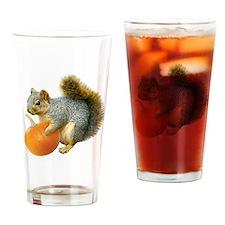Squirrel with Pumpkin Drinking Glass
