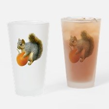 Squirrel with Pumpkin Drinking Glass