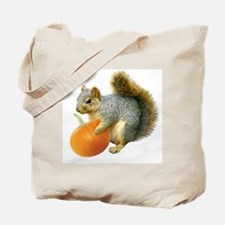 Squirrel with Pumpkin Tote Bag