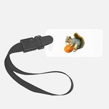 Squirrel with Pumpkin Luggage Tag
