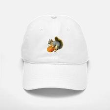 Squirrel with Pumpkin Baseball Baseball Cap