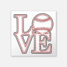 Love Baseball Laces Light Sticker