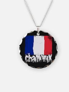 Chamonix Grunge Flag Necklace