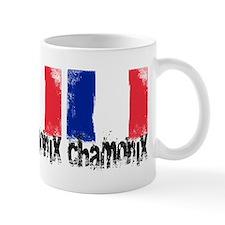Chamonix Grunge Flag Small Mugs