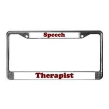 Speech Therapy License Plate Frame