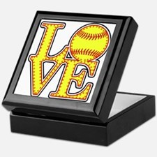 Love Softball Stitches Keepsake Box