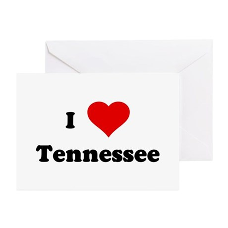 I Love Tennessee Greeting Cards (Pk of 10)
