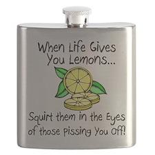 Funny Lemons Flask