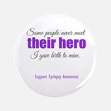 """Hero Epilepsy 3.5"""" Button"""