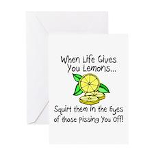 Funny Lemons Greeting Cards