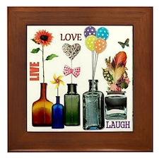 Live Love Laugh Framed Tile