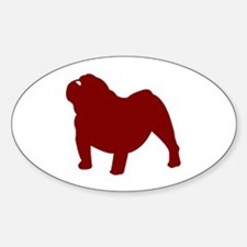Just Bulldog (Red) Oval Decal