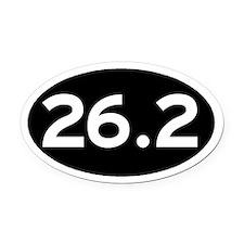 26.2 Black Oval Car Magnet