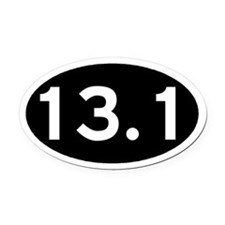 13.1 Black Oval Car Magnet