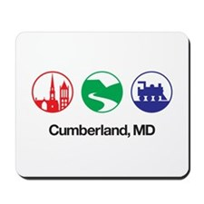 Cumberland, MD in Icons - White Mousepad