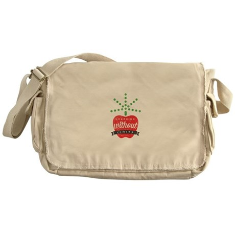 Learning without limits logo Messenger Bag