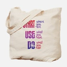 Start - Use - Do Tote Bag