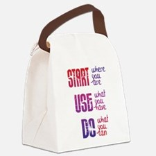 Start - Use - Do Canvas Lunch Bag