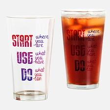 Start - Use - Do Drinking Glass