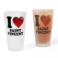 I Heart Saint Vincent Drinking Glass