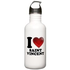 I Heart Saint Vincent Water Bottle