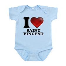 I Heart Saint Vincent Body Suit