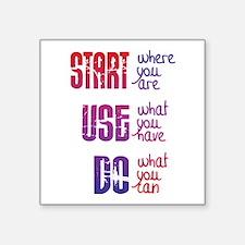 Start - Use - Do Sticker