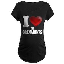 I Heart The Grenadines Maternity T-Shirt