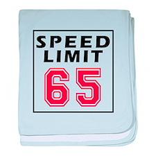 Speed Limit 65 baby blanket