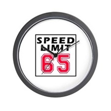 Speed Limit 65 Wall Clock