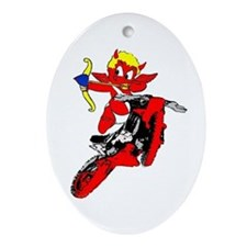 Cupid the little devil Oval Ornament