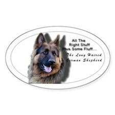 """All The Right Stuff"" Long Haired GSD Decal"