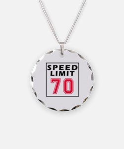 Speed Limit 70 Necklace Circle Charm