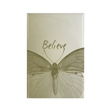 Gold Believe Butterfly Magnets