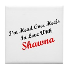 In Love with Shawna Tile Coaster