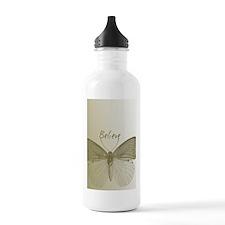 Gold Believe Butterfly Water Bottle