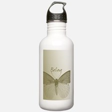 Gold Believe Butterfly Water Bottle