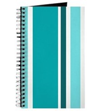 Aqua Stripes Journal