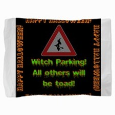Witch Parking - Toad Pillow Sham