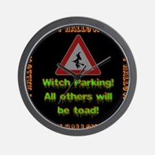 Witch Parking - Toad Wall Clock