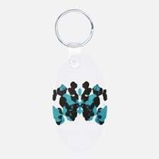 Blue Wednesday Inkblot Keychains