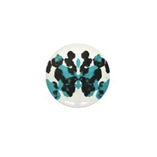 Blue Wednesday Inkblot Mini Button