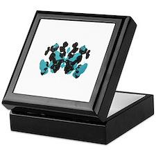 Blue Wednesday Inkblot Keepsake Box