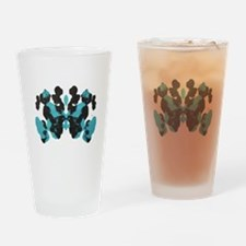 Blue Wednesday Inkblot Drinking Glass