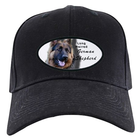 Long Haired German Shepherd Black Cap