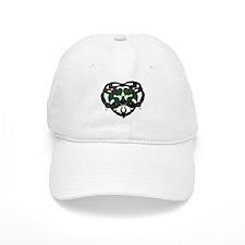 Celtic Green Heart Inkblot Baseball Baseball Baseball Cap