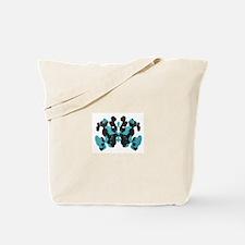 Wednesday Blue Inkblot Tote Bag