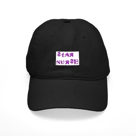 Star Nurse Black Cap