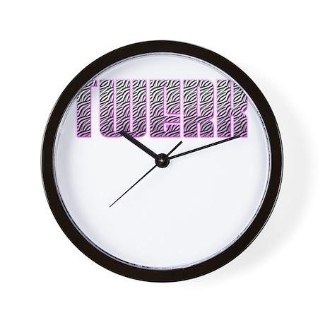 TWERK Wall Clock By GoodMusic1